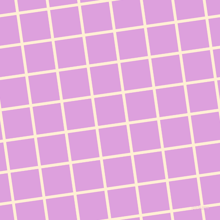 8/98 degree angle diagonal checkered chequered lines, 6 pixel lines width, 58 pixel square size, Papaya Whip and Plum plaid checkered seamless tileable