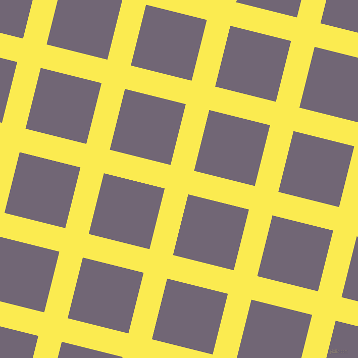 76/166 degree angle diagonal checkered chequered lines, 48 pixel lines width, 124 pixel square size, Paris Daisy and Rum plaid checkered seamless tileable