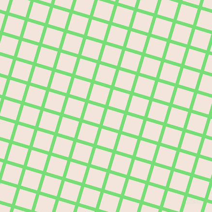 73/163 degree angle diagonal checkered chequered lines, 7 pixel line width, 35 pixel square size, Pastel Green and Fair Pink plaid checkered seamless tileable