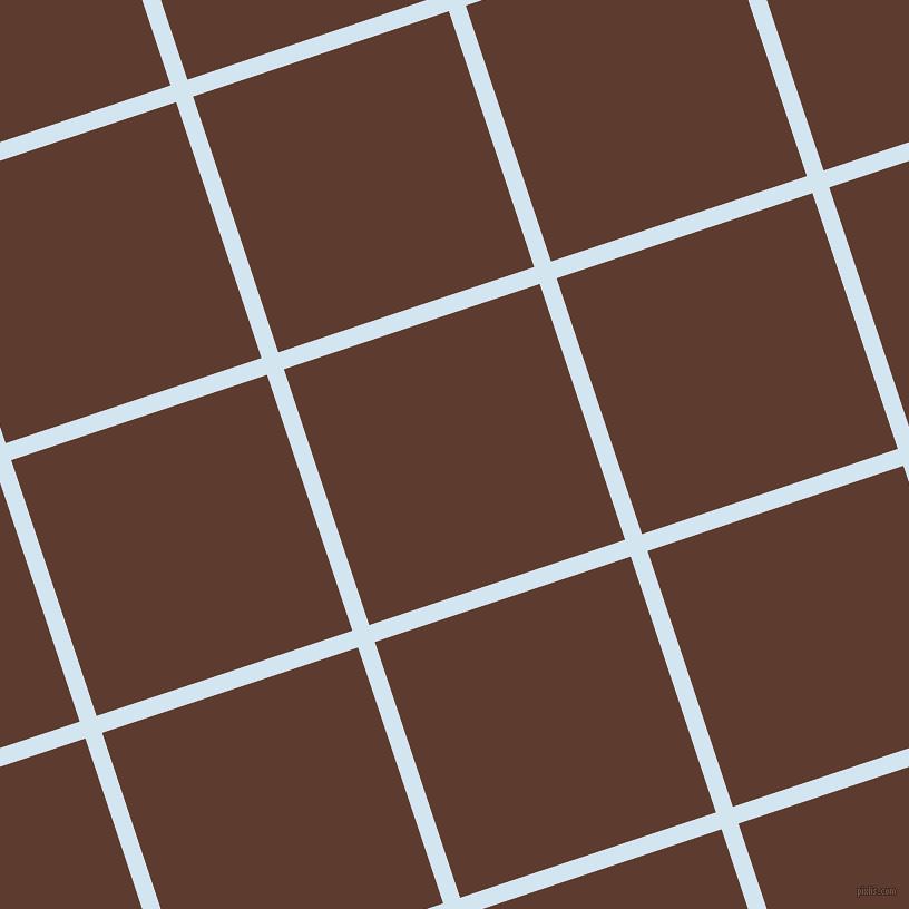 18/108 degree angle diagonal checkered chequered lines, 16 pixel lines width, 242 pixel square size, Pattens Blue and Cioccolato plaid checkered seamless tileable