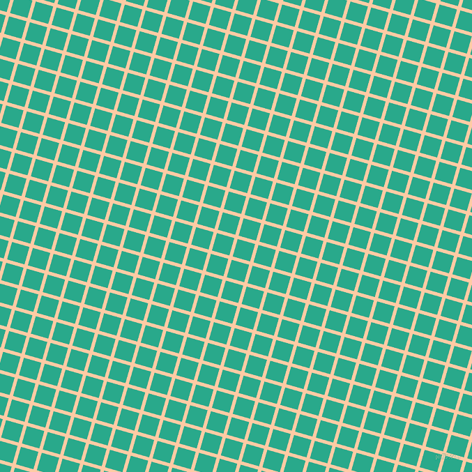 74/164 degree angle diagonal checkered chequered lines, 5 pixel lines width, 26 pixel square size, Peach and Niagara plaid checkered seamless tileable