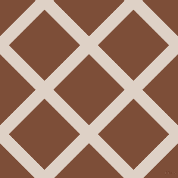45/135 degree angle diagonal checkered chequered lines, 42 pixel line width, 167 pixel square size, Pearl Bush and Cigar plaid checkered seamless tileable