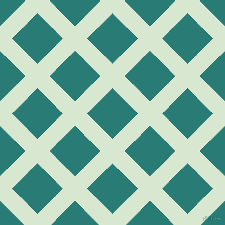45/135 degree angle diagonal checkered chequered lines, 35 pixel lines width, 73 pixel square size, Peppermint and Elm plaid checkered seamless tileable
