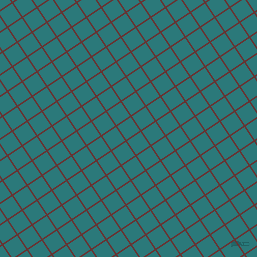 34/124 degree angle diagonal checkered chequered lines, 3 pixel line width, 32 pixel square size, Persian Plum and Atoll plaid checkered seamless tileable