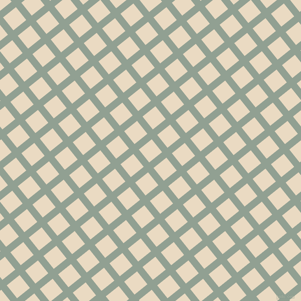 39/129 degree angle diagonal checkered chequered lines, 14 pixel lines width, 33 pixel square size, Pewter and Solitaire plaid checkered seamless tileable