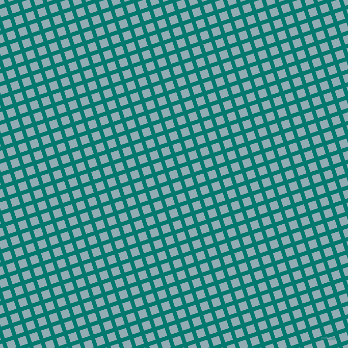 18/108 degree angle diagonal checkered chequered lines, 8 pixel line width, 16 pixel square size, Pine Green and Botticelli plaid checkered seamless tileable