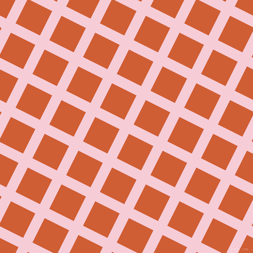 63/153 degree angle diagonal checkered chequered lines, 21 pixel line width, 55 pixel square size, Pink Lace and Chilean Fire plaid checkered seamless tileable