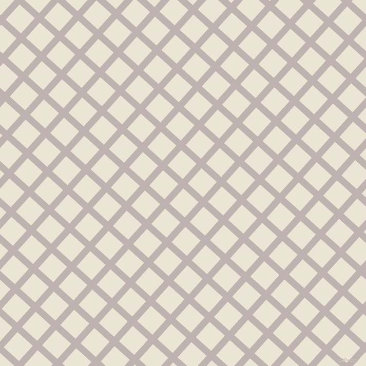 48/138 degree angle diagonal checkered chequered lines, 13 pixel lines width, 40 pixel square size, Pink Swan and Cararra plaid checkered seamless tileable