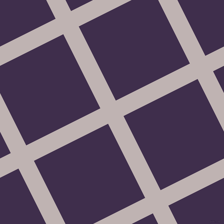 27/117 degree angle diagonal checkered chequered lines, 59 pixel line width, 283 pixel square size, Pink Swan and Jagger plaid checkered seamless tileable