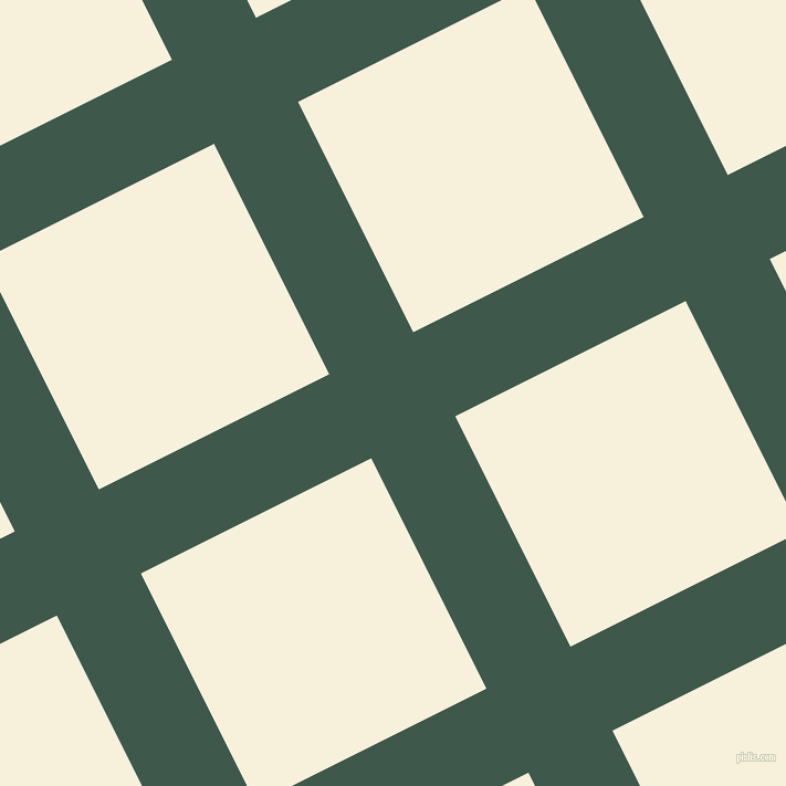 27/117 degree angle diagonal checkered chequered lines, 85 pixel line width, 233 pixel square size, Plantation and Apricot White plaid checkered seamless tileable
