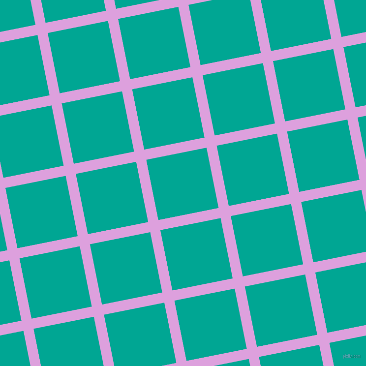 11/101 degree angle diagonal checkered chequered lines, 21 pixel lines width, 125 pixel square size, Plum and Persian Green plaid checkered seamless tileable