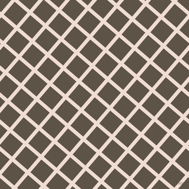 49/139 degree angle diagonal checkered chequered lines, 12 pixel line width, 55 pixel square size, Pot Pourri and Judge Grey plaid checkered seamless tileable