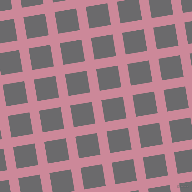 9/99 degree angle diagonal checkered chequered lines, 31 pixel line width, 70 pixel square size, Puce and Scarpa Flow plaid checkered seamless tileable