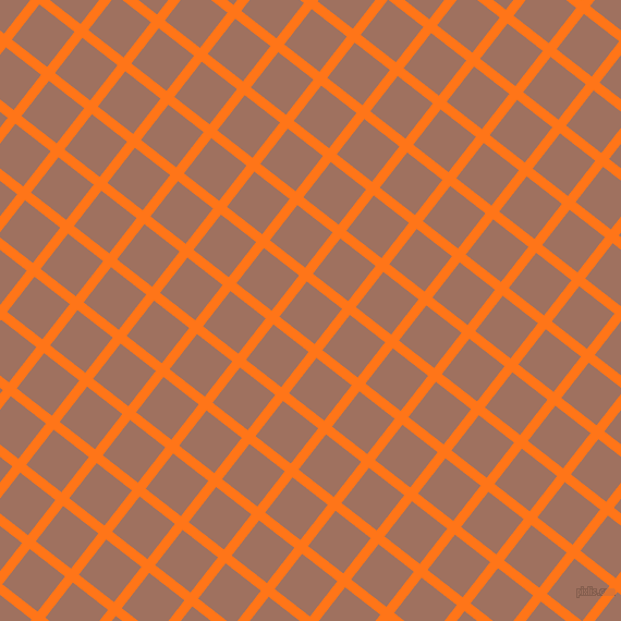 52/142 degree angle diagonal checkered chequered lines, 9 pixel lines width, 41 pixel square size, Pumpkin and Toast plaid checkered seamless tileable