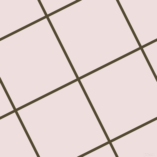 27/117 degree angle diagonal checkered chequered lines, 9 pixel line width, 233 pixel square size, Punga and Soft Peach plaid checkered seamless tileable