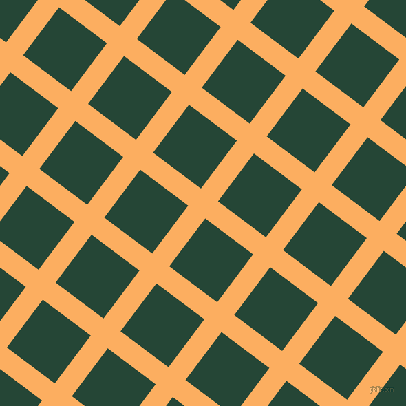 53/143 degree angle diagonal checkered chequered lines, 31 pixel lines width, 87 pixel square size, Rajah and Bottle Green plaid checkered seamless tileable