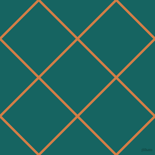 45/135 degree angle diagonal checkered chequered lines, 8 pixel line width, 174 pixel square size, Raw Sienna and Blue Stone plaid checkered seamless tileable