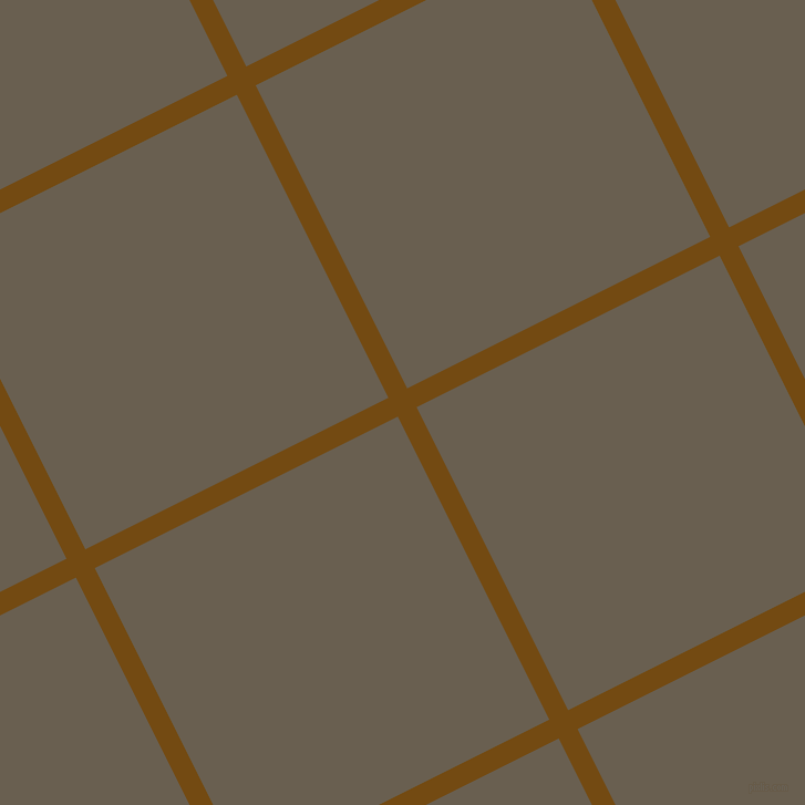 27/117 degree angle diagonal checkered chequered lines, 19 pixel line width, 306 pixel square size, Raw Umber and Makara plaid checkered seamless tileable