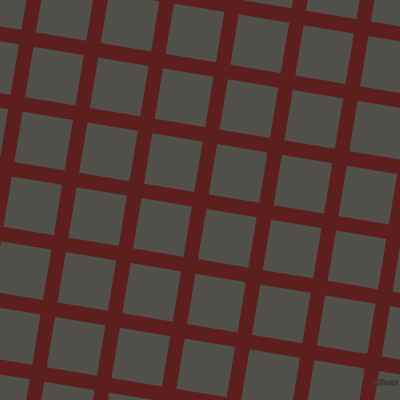81/171 degree angle diagonal checkered chequered lines, 21 pixel line width, 73 pixel square size, Red Oxide and Dune plaid checkered seamless tileable