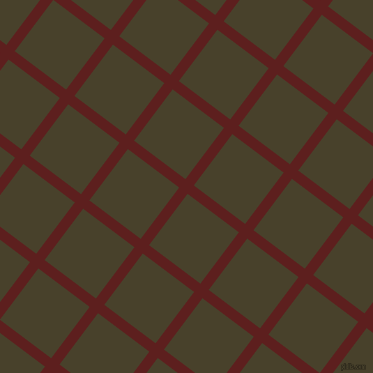 53/143 degree angle diagonal checkered chequered lines, 15 pixel lines width, 92 pixel square size, Red Oxide and Onion plaid checkered seamless tileable