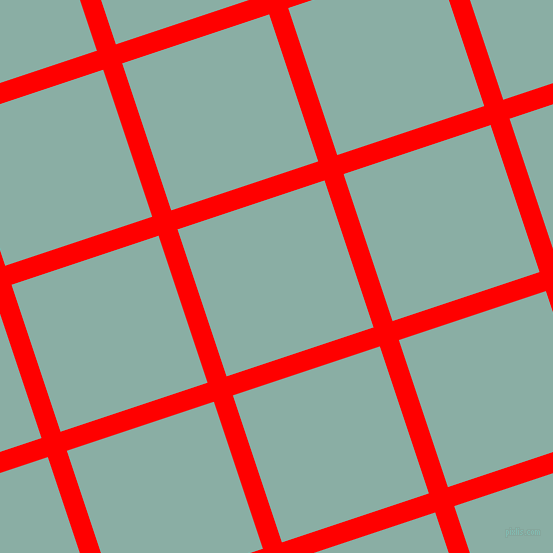 18/108 degree angle diagonal checkered chequered lines, 20 pixel line width, 155 pixel square size, Red and Sea Nymph plaid checkered seamless tileable