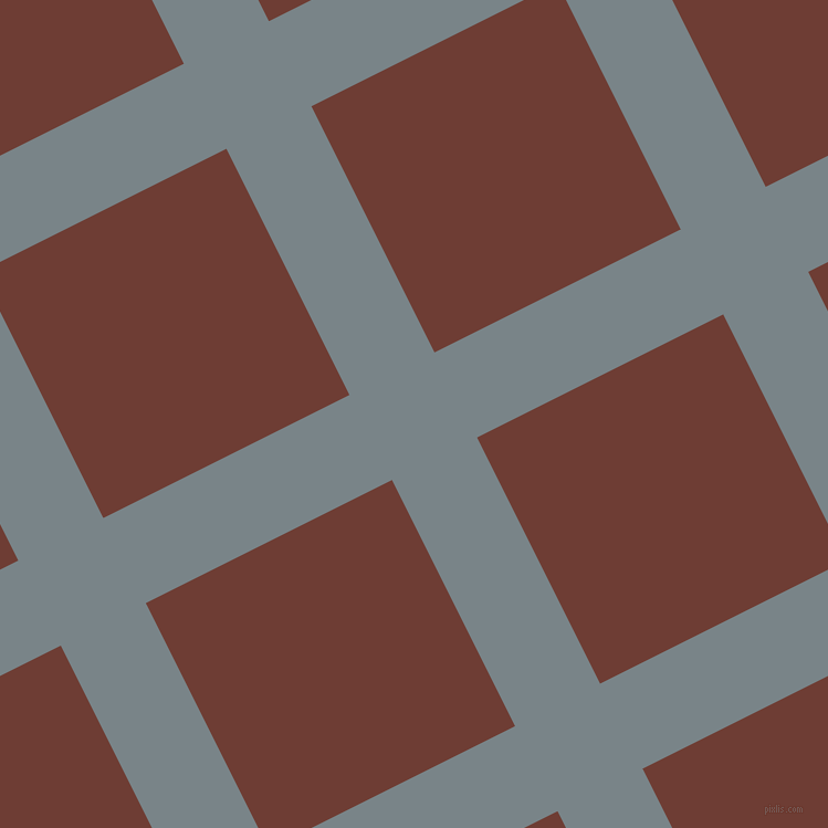 27/117 degree angle diagonal checkered chequered lines, 86 pixel line width, 249 pixel square size, Regent Grey and Metallic Copper plaid checkered seamless tileable