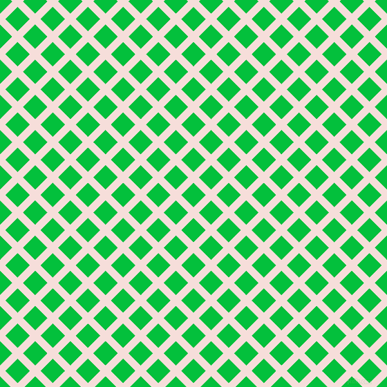 45/135 degree angle diagonal checkered chequered lines, 11 pixel lines width, 25 pixel square size, Remy and Dark Pastel Green plaid checkered seamless tileable