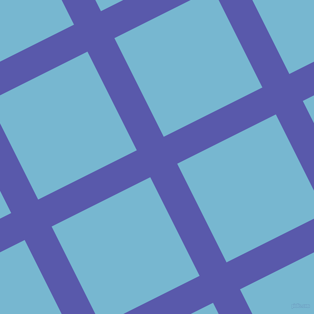 27/117 degree angle diagonal checkered chequered lines, 59 pixel lines width, 216 pixel square size, Rich Blue and Seagull plaid checkered seamless tileable