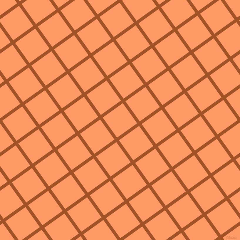 36/126 degree angle diagonal checkered chequered lines, 11 pixel line width, 84 pixel square size, Rich Gold and Atomic Tangerine plaid checkered seamless tileable