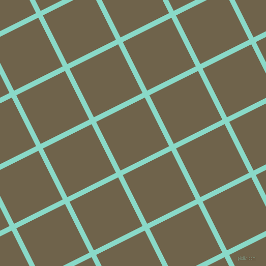 27/117 degree angle diagonal checkered chequered lines, 10 pixel line width, 107 pixel square size, Riptide and Soya Bean plaid checkered seamless tileable