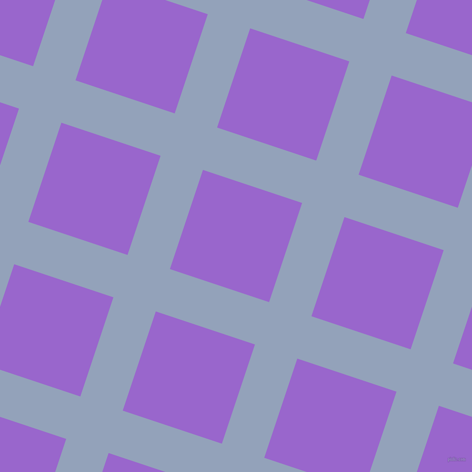 72/162 degree angle diagonal checkered chequered lines, 88 pixel lines width, 206 pixel square size, Rock Blue and Amethyst plaid checkered seamless tileable