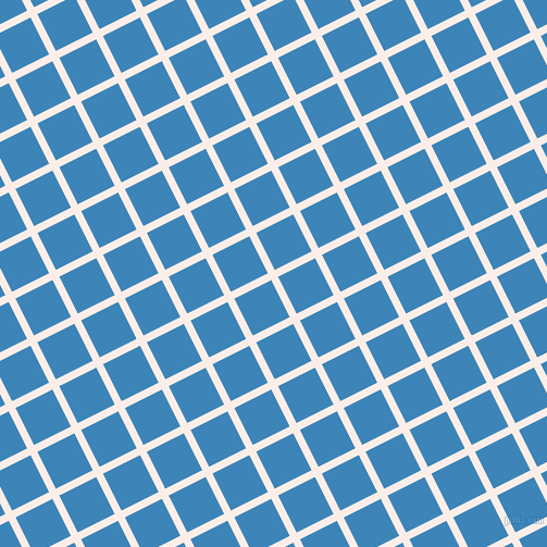 27/117 degree angle diagonal checkered chequered lines, 7 pixel line width, 38 pixel square size, Rose White and Curious Blue plaid checkered seamless tileable