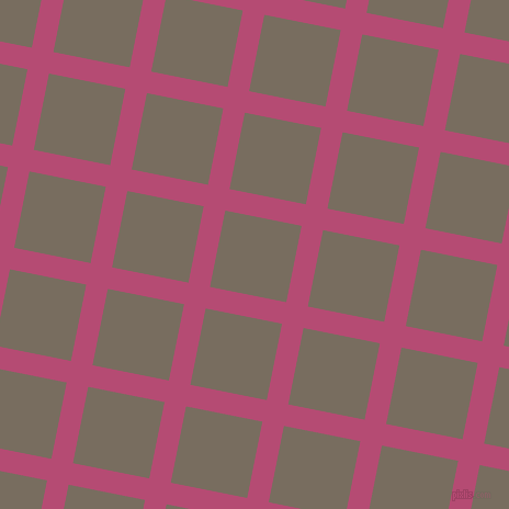 79/169 degree angle diagonal checkered chequered lines, 20 pixel line width, 71 pixel square size, Royal Heath and Sandstone plaid checkered seamless tileable