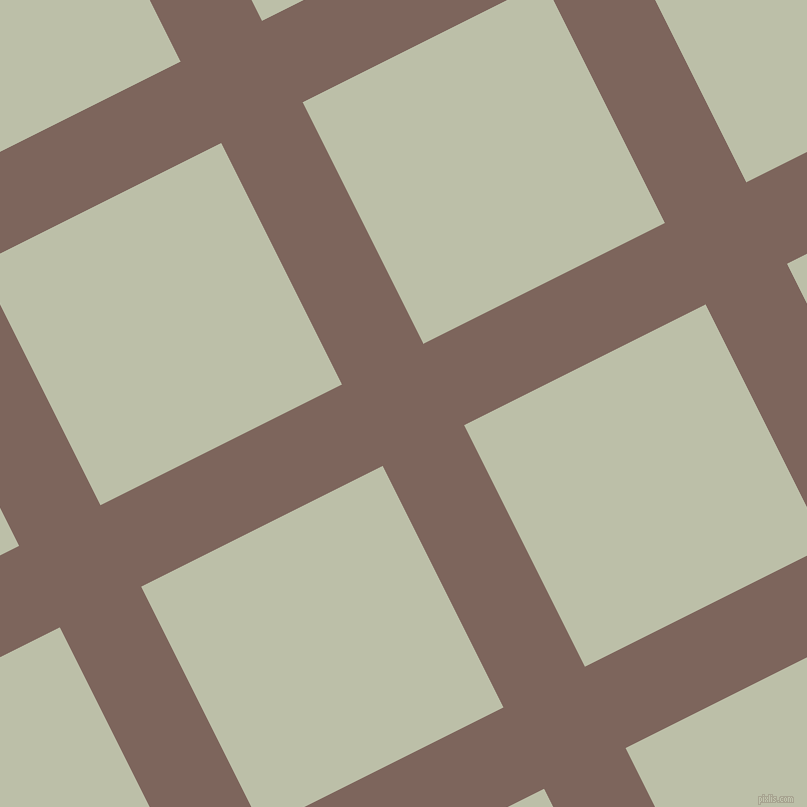 27/117 degree angle diagonal checkered chequered lines, 91 pixel line width, 270 pixel square size, Russett and Beryl Green plaid checkered seamless tileable