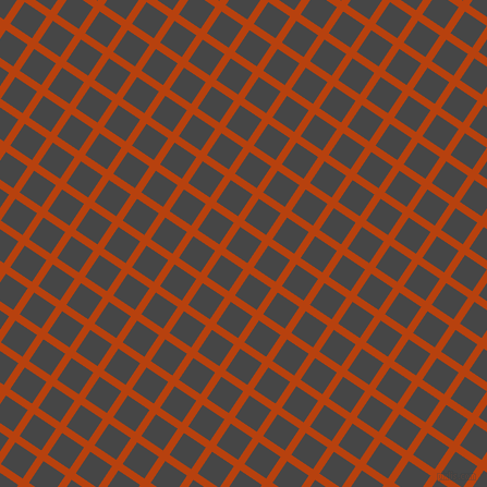 56/146 degree angle diagonal checkered chequered lines, 7 pixel line width, 24 pixel square size, Rust and Charcoal plaid checkered seamless tileable