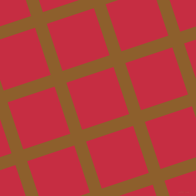 18/108 degree angle diagonal checkered chequered lines, 40 pixel lines width, 160 pixel square size, Rusty Nail and Brick Red plaid checkered seamless tileable