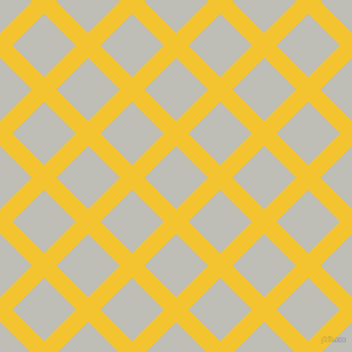 45/135 degree angle diagonal checkered chequered lines, 25 pixel lines width, 65 pixel square size, Saffron and Silver Sand plaid checkered seamless tileable