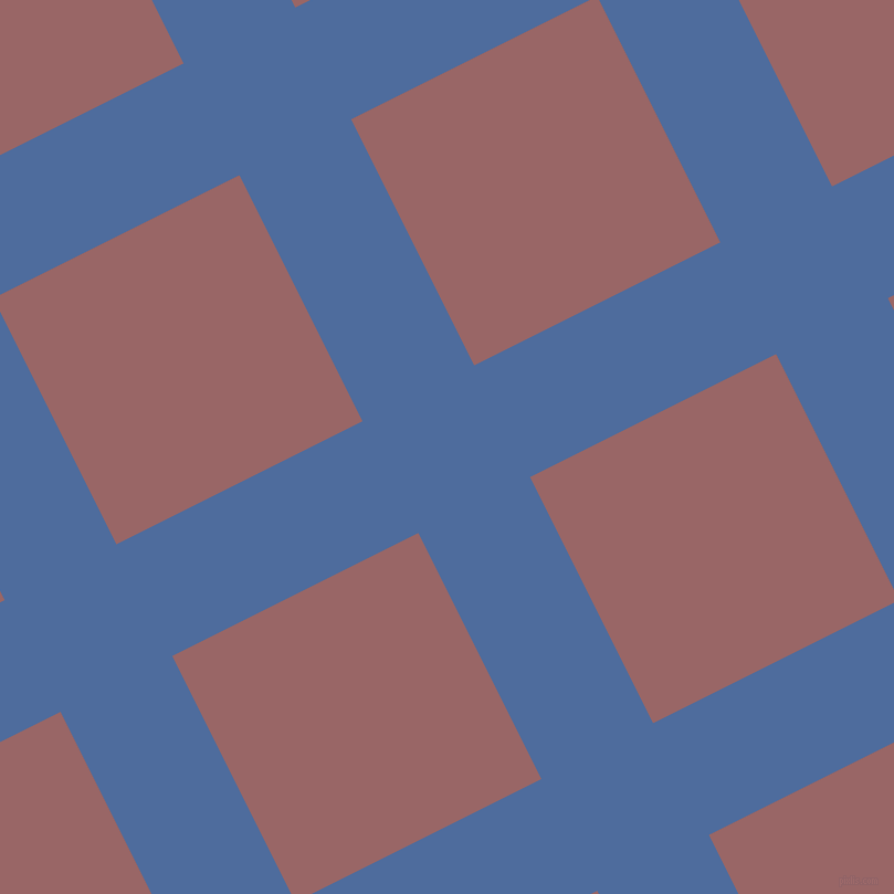 27/117 degree angle diagonal checkered chequered lines, 113 pixel lines width, 249 pixel square size, San Marino and Copper Rose plaid checkered seamless tileable