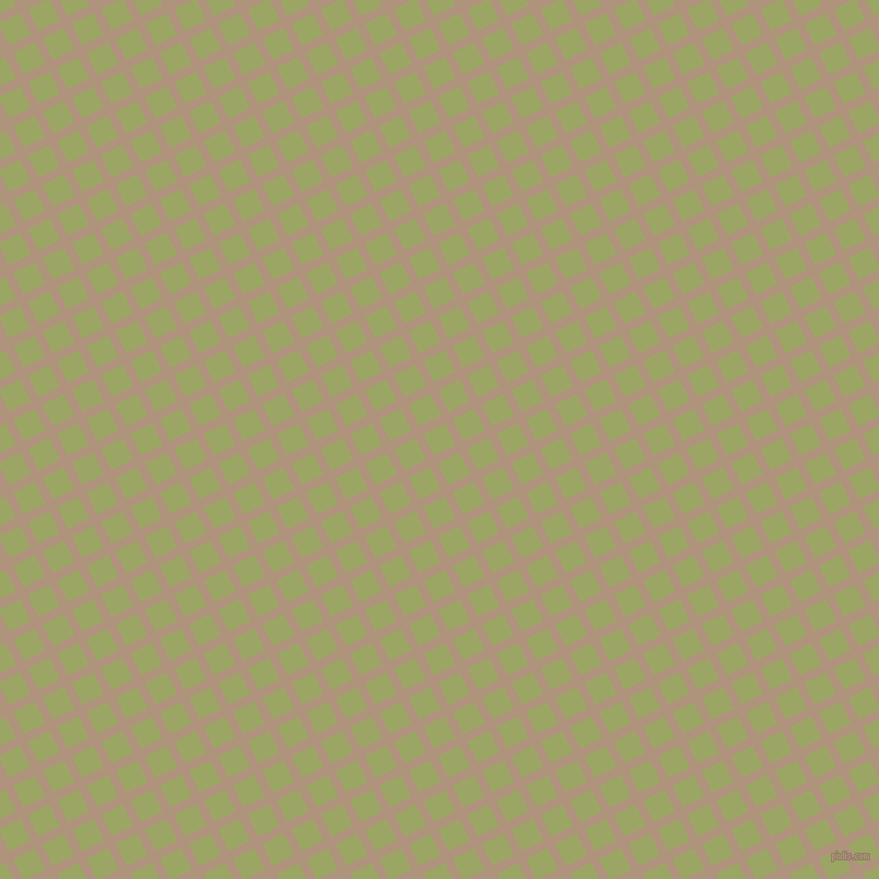 27/117 degree angle diagonal checkered chequered lines, 8 pixel line width, 22 pixel square size, Sandrift and Green Smoke plaid checkered seamless tileable