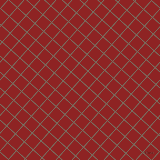 48/138 degree angle diagonal checkered chequered lines, 3 pixel line width, 36 pixel square size, Sandstone and Mandarian Orange plaid checkered seamless tileable