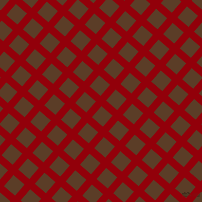 49/139 degree angle diagonal checkered chequered lines, 15 pixel lines width, 30 pixel square size, Sangria and Bracken plaid checkered seamless tileable