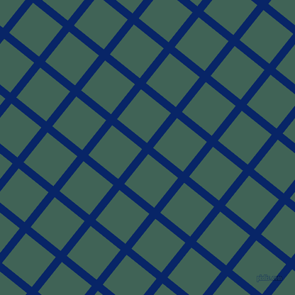 51/141 degree angle diagonal checkered chequered lines, 11 pixel line width, 54 pixel square size, Sapphire and Stromboli plaid checkered seamless tileable