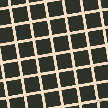 9/99 degree angle diagonal checkered chequered lines, 11 pixel lines width, 58 pixel square size, Sazerac and Black Forest plaid checkered seamless tileable