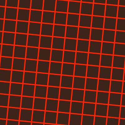 84/174 degree angle diagonal checkered chequered lines, 4 pixel lines width, 36 pixel square size, Scarlet and Brown Pod plaid checkered seamless tileable