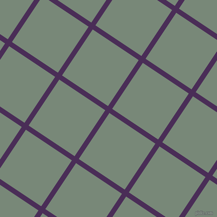 56/146 degree angle diagonal checkered chequered lines, 10 pixel line width, 111 pixel square size, Scarlet Gum and Davy