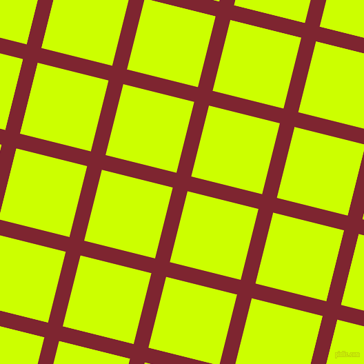 76/166 degree angle diagonal checkered chequered lines, 22 pixel lines width, 106 pixel square size, Scarlett and Electric Lime plaid checkered seamless tileable