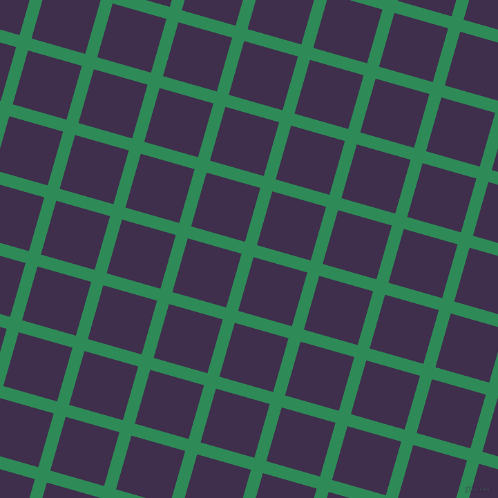 74/164 degree angle diagonal checkered chequered lines, 18 pixel line width, 81 pixel square size, Sea Green and Jagger plaid checkered seamless tileable