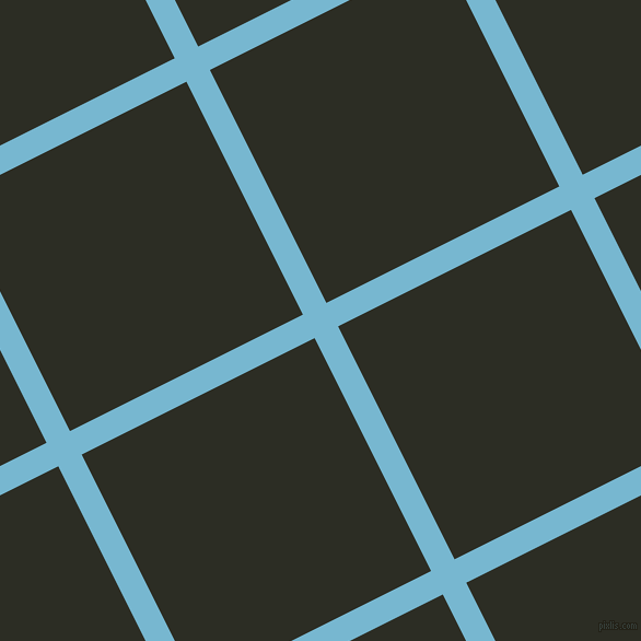 27/117 degree angle diagonal checkered chequered lines, 24 pixel line width, 238 pixel square size, Seagull and Green Waterloo plaid checkered seamless tileable