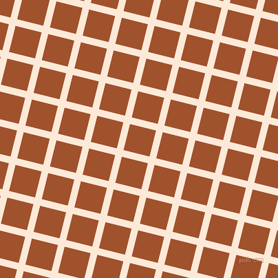 76/166 degree angle diagonal checkered chequered lines, 10 pixel lines width, 39 pixel square size, Serenade and Sienna plaid checkered seamless tileable