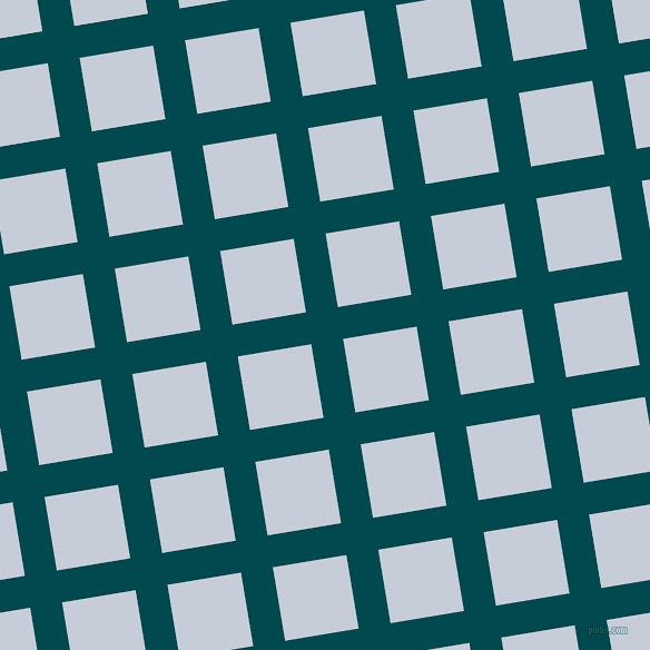 9/99 degree angle diagonal checkered chequered lines, 29 pixel line width, 67 pixel square size, Sherpa Blue and Link Water plaid checkered seamless tileable